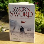 Front cover of large print edition of Sworn Sword