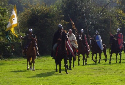 Norman knights ride to battle