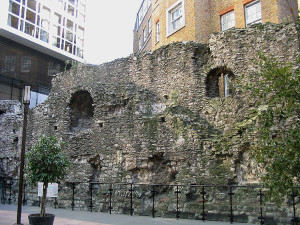 Medieval city wall, London