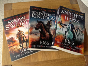All three books (so far) in the Conquest Series: UK paperback editions.