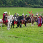 Norman knights at the 2015 Battle of Hastings re-enactment