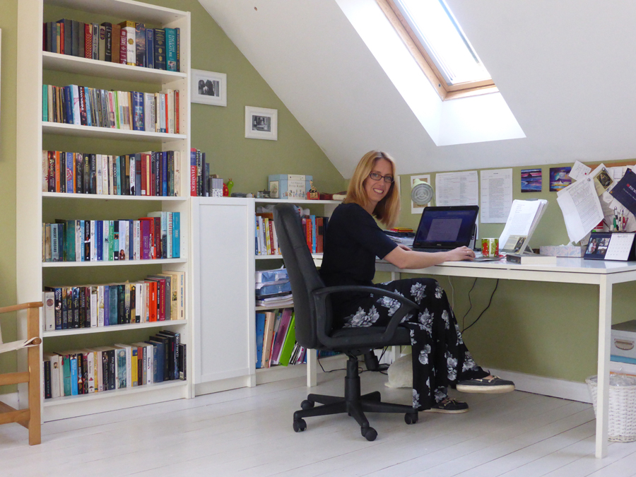 Joanna Courtney at her desk
