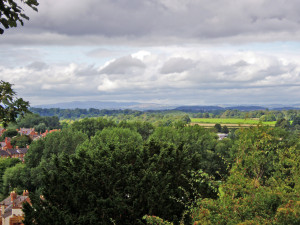 View from Shrewsbury Castle, looking west