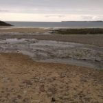 The beach at Manorbier, Pembrokshire