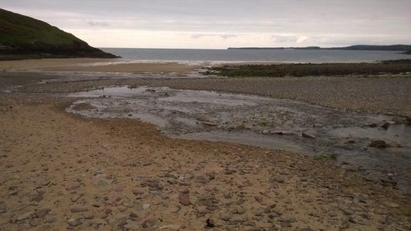 The beach at Manorbier, Pembrokshire